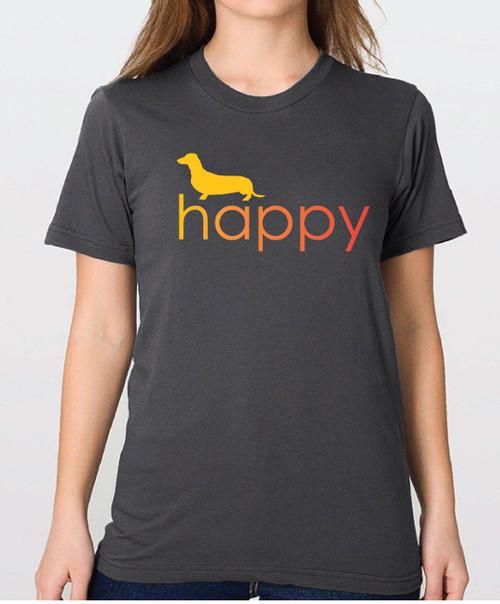 Righteous Hound - Unisex Happy Dachshund T-Shirt