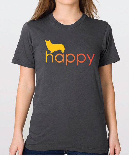 Righteous Hound - Unisex Happy Corgi T-Shirt