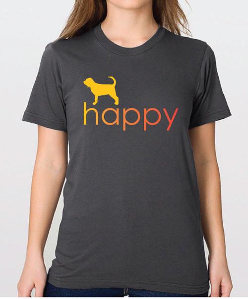 Righteous Hound - Unisex Happy Bloodhound T-Shirt