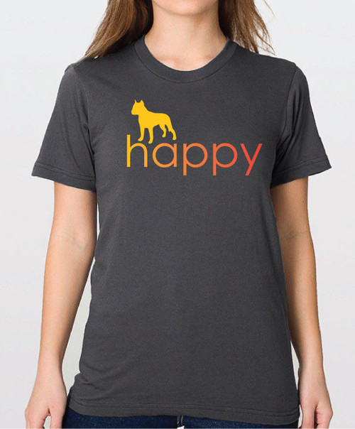Righteous Hound - Unisex Happy Staffordshire Terrier T-Shirt