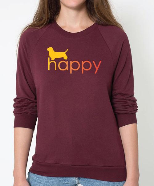 Righteous Hound - Unisex Happy Basset Hound Sweatshirt
