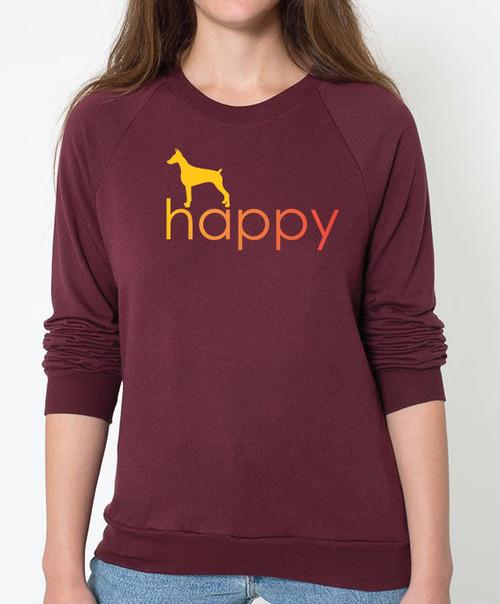Righteous Hound - Unisex Happy Doberman Sweatshirt