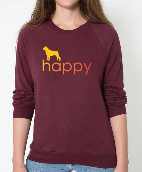 Righteous Hound - Unisex Happy Rottweiler Sweatshirt