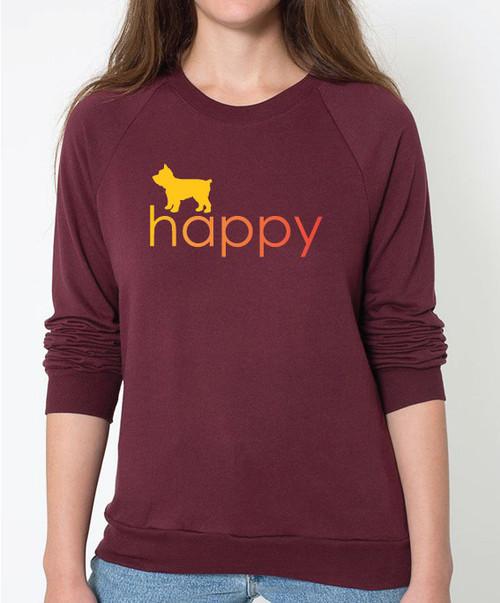 Righteous Hound - Unisex Happy Yorkie Sweatshirt