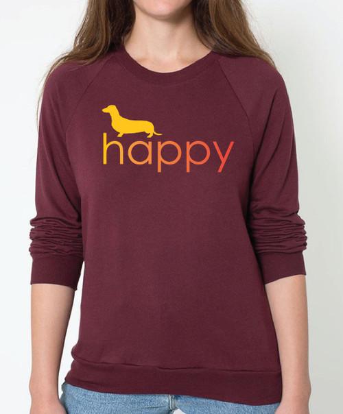Righteous Hound - Unisex Happy Dachshund Sweatshirt