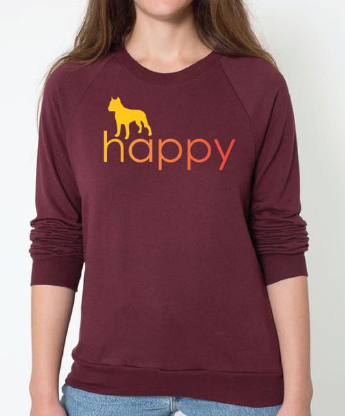 Righteous Hound - Unisex Happy Staffordshire Terrier Sweatshirt