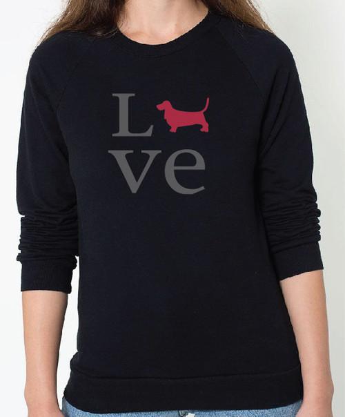 Unisex Love Basset Hound Sweatshirt