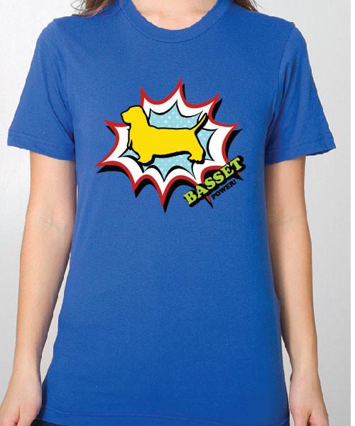 Unisex Comic Basset Hound T-Shirt