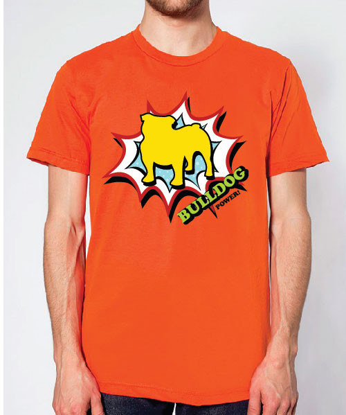 Righteous Hound - Unisex Comic Bulldog T-Shirt