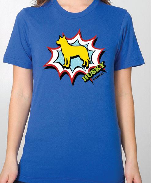 Unisex Comic Husky T-Shirt