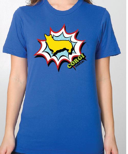 Unisex Comic Corgi T-Shirt
