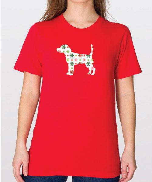 Unisex Holiday Beagle T-Shirt