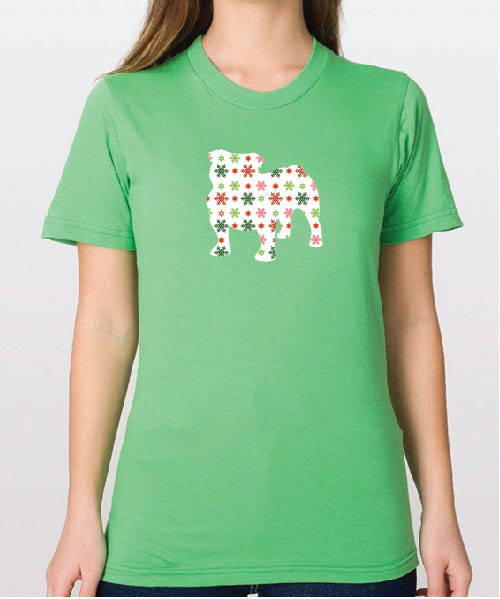 Righteous Hound - Unisex Holiday Bulldog T-Shirt