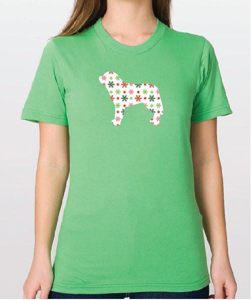 Righteous Hound - Unisex Holiday Saint Bernard T-Shirt