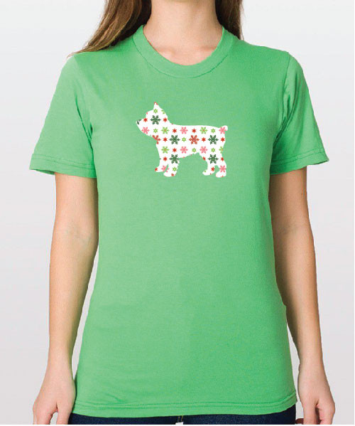 Righteous Hound - Unisex Holiday Yorkie T-Shirt