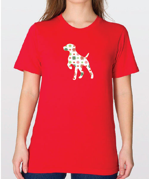Unisex Holiday German Shorthaired Pointer T-Shirt