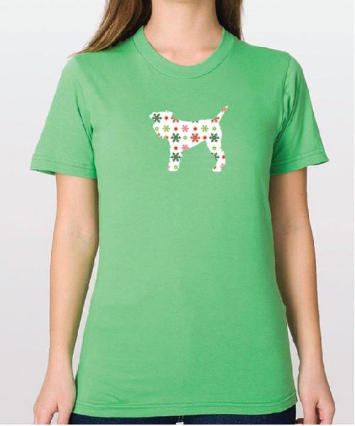 Righteous Hound - Unisex Holiday Schnauzer T-Shirt