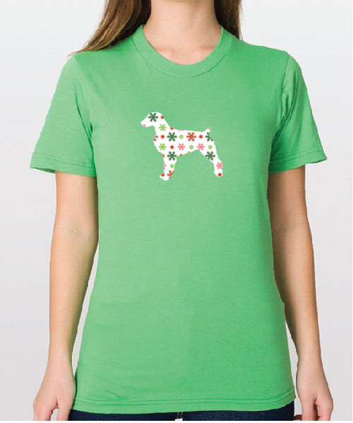 Righteous Hound - Unisex Holiday Brittany T-Shirt