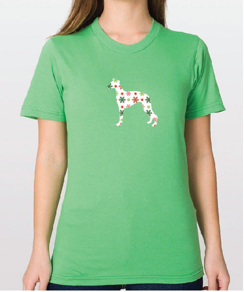 Righteous Hound - Unisex Holiday Whippet T-Shirt