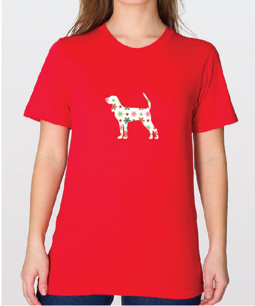 Unisex Holiday Coonhound T-Shirt