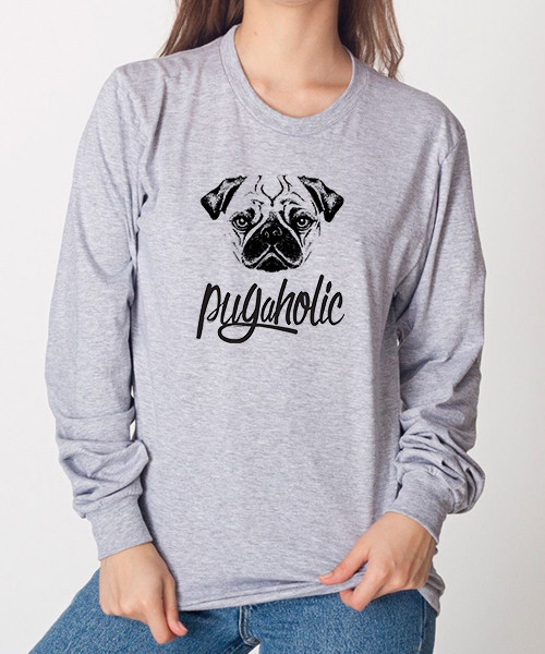 Pugaholic Unisex Long Sleeve T-Shirt