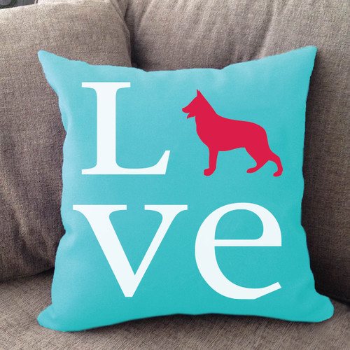 German Shepherd Love Pillow
