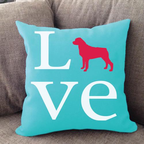Rottweiler Love Pillow