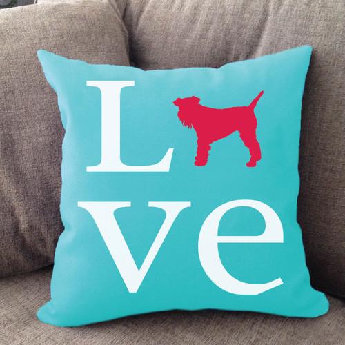 Schnauzer Love Pillow