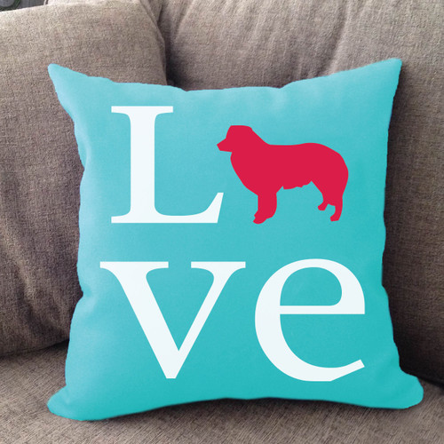 Border Collie Love Pillow