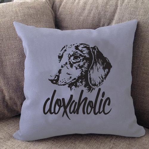 Doxaholic Dachshund Pillow