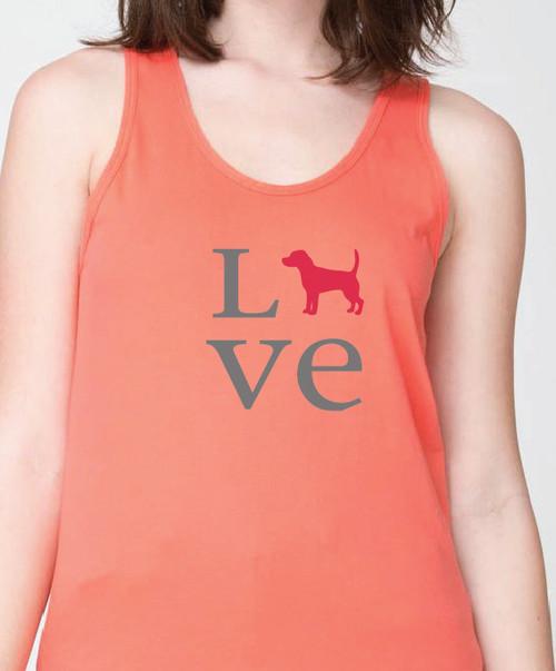 Unisex Love Beagle Tank Top