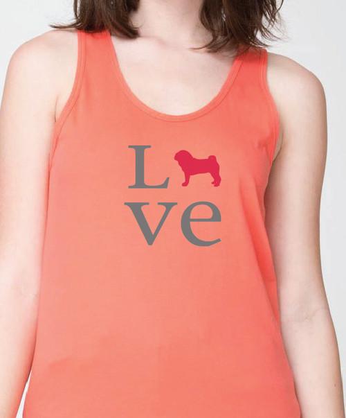 Unisex Love Pug Tank Top