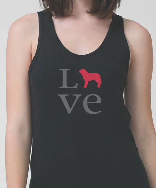 Unisex Love Saint Bernard Tank Top