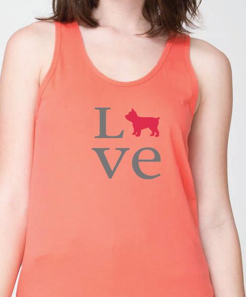 Unisex Love Yorkie Tank Top