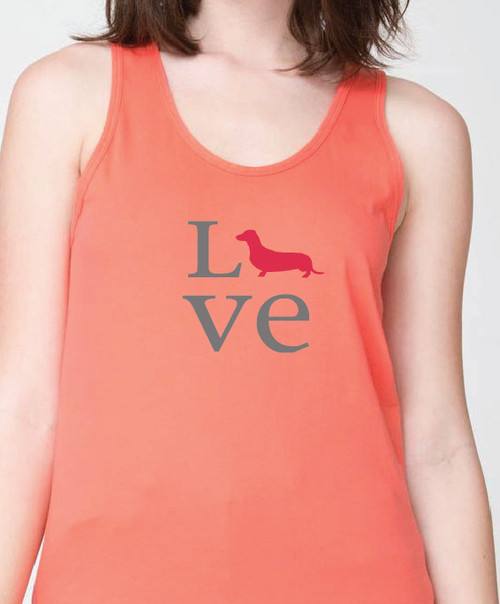 Unisex Love Dachshund Tank Top