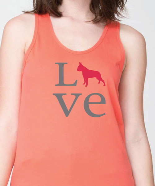 Unisex Love Boston Terrier Tank Top