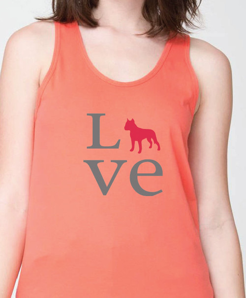 Unisex Love Staffordshire Terrier Tank Top