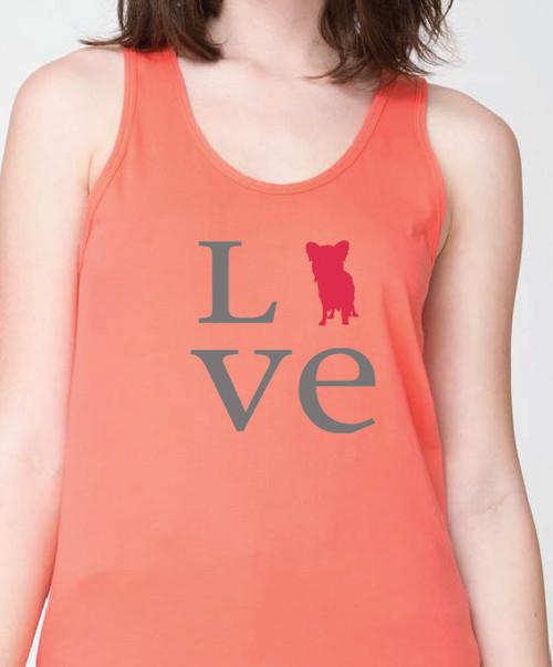 Unisex Love Papillon Tank Top