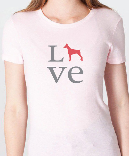 Unisex Love Doberman T-Shirt