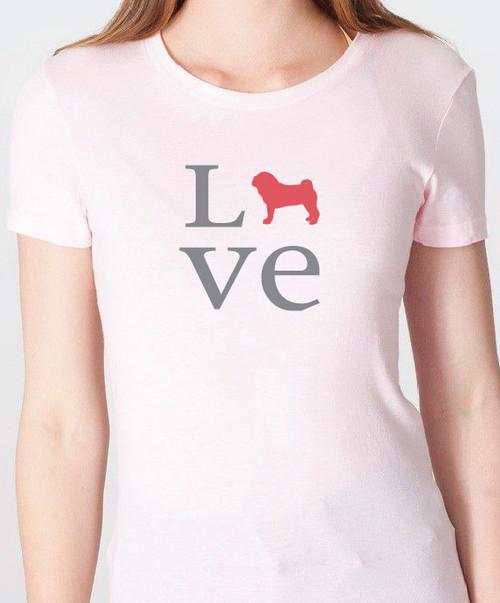 Unisex Love Pug T-Shirt