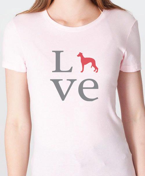 Unisex Love Whippet T-Shirt
