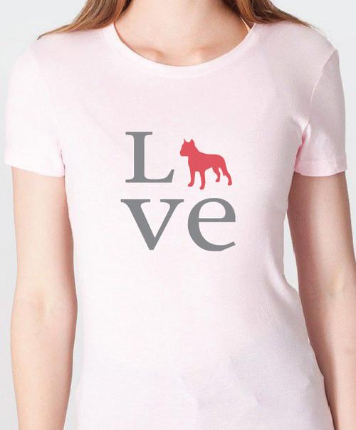 Unisex Love Staffordshire Terrier T-Shirt