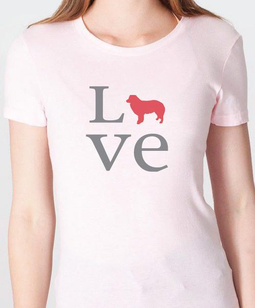 Unisex Love Border Collie T-Shirt