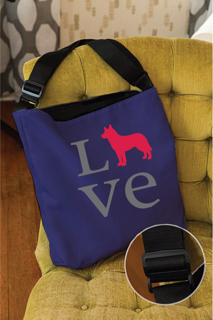 Righteous Hound - Love Husky Adjustable Tote Bag