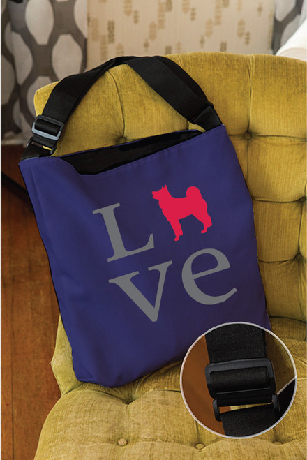 Righteous Hound - Love Akita Adjustable Tote Bag
