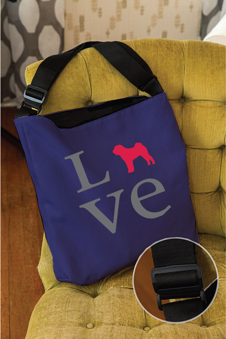 Righteous Hound - Love Shar-Pei Adjustable Tote Bag