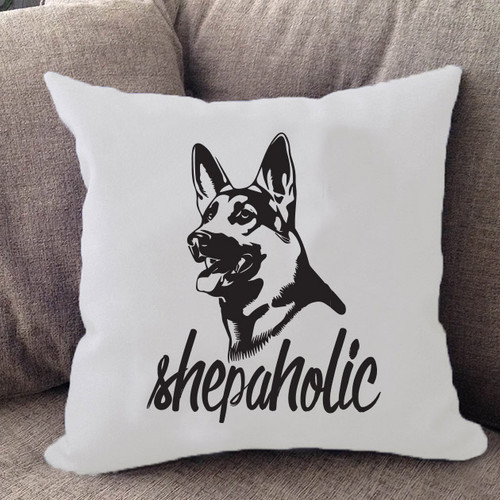 Shepaholic German Shepherd Pillow