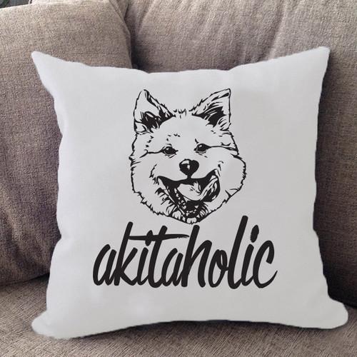 Akitaholic Akita Pillow