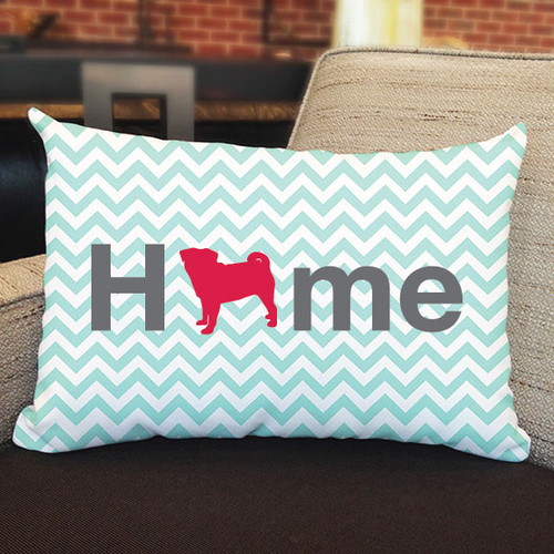 Righteous Hound - Home Pug Pillow