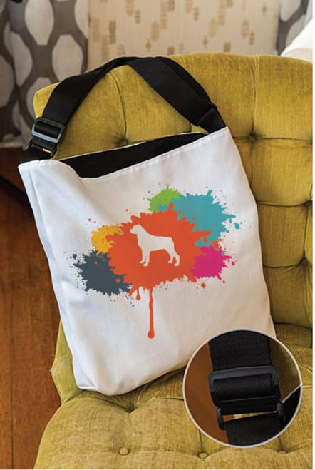 Splatter Rottweiler Adjustable Tote Bag